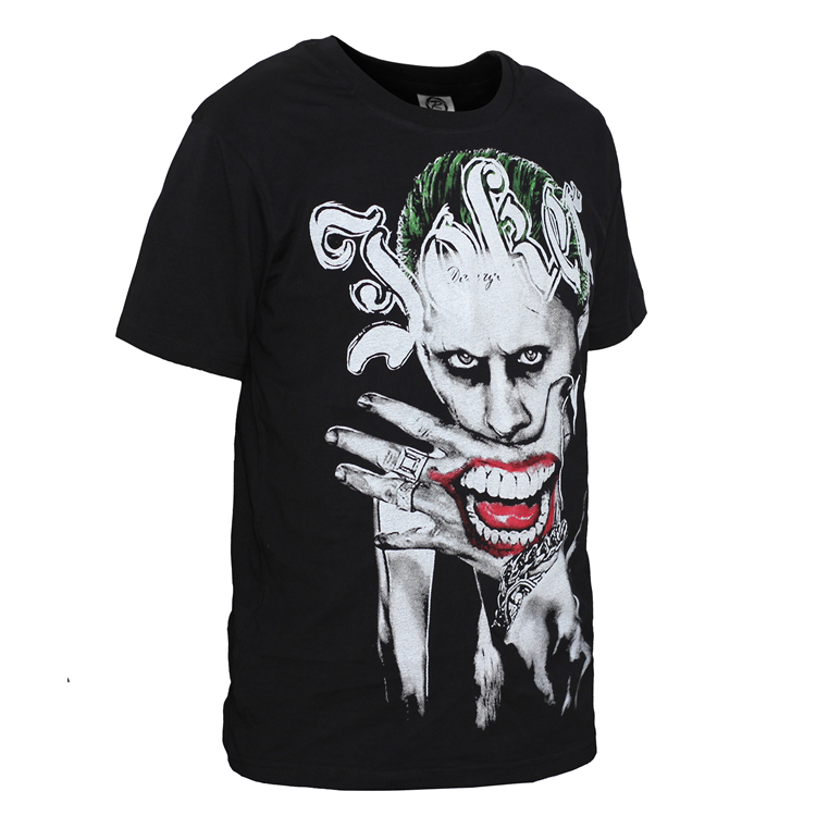 new film suicide squad t-shirt joker harley quinn t shirt short sleeve tees men women tops-1