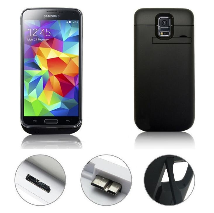 bilder für Neue 3800 mAh external power Tragbares Ladegerät Unterstützungsbatterie Fall Für Samsung galaxy i9600 s5 mit usb-kabel linie