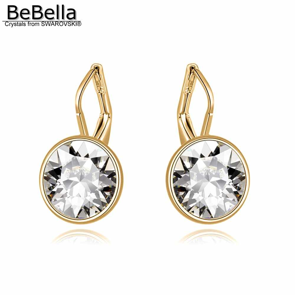 2daf30c04 BeBella 1.2cm mini bella piercing drop earrings Crystals from Swarovski gold  color plated fashion jewelry