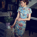 chinese traditional dress cotton sexy short sleeve traditional chinese dress cheongsam linen clothing store qipao dresses casual