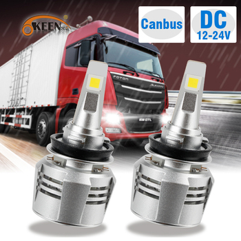 OKEEN Car Headlight H7 LED Headlight bulb M70 H4 LED H11 9006 9005 80W 8000LM 6000K 12V 24V Auto Trailer Truck Headlamp