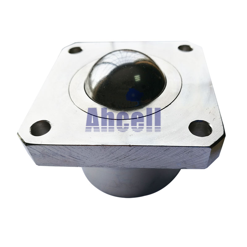 Ahcell SI38 500kg load capacity Steel caster Super Heavy Flange Ball transfer unit SI-38 machined solid ball bearing roller