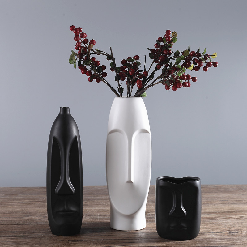 Aliexpress Buy Creative Abstract Human Face Shape Vase For