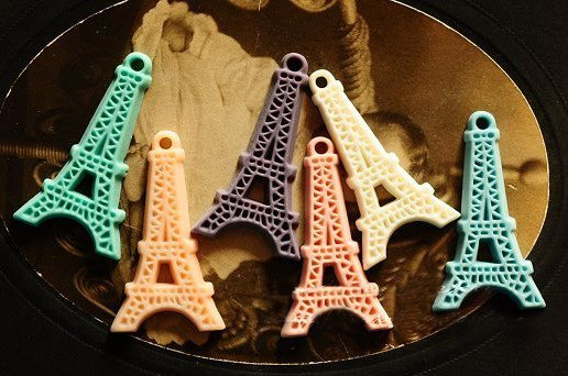 25x45mm resin cabochon bead Cameo EIFFLE TOWER DIY Handmade jewelry Pendants Accessory wholesale 100pcs/lot