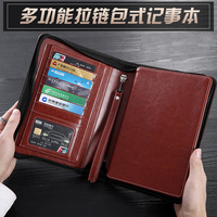 High quality softcover office school business travel notebook stationery PU leather planner notebook refill inner paper 1289A