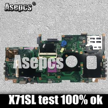 Asepcs X71SL Laptop motherboard for ASUS X71SL X71S X71S Test original mainboard
