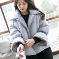Novo casaco de inverno manter quente curto de algodão-acolchoado jacket solto casaco mulher