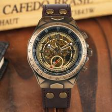 Retro Automatic-self-winding Watches for Men Business Bronze Mechanical Skeleton Watch for Man Elegant Watches with Fluorescent pagani design automatic watch men waterproof mechanical watches mens self winding horloges mannen dropship