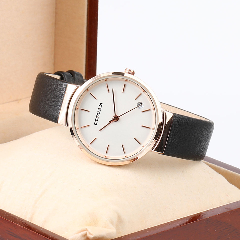 Rose Gold Couple Watch Women Men Quartz Watches Ladies Top Brand Luxury Female Calendar Wrist Watch Girl Clock Relogio Feminino