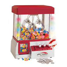 Electronic Claw Toy Candy Grabber Coin Operated Game Doll Machine With LED Lights And Music Sound Without Toys IQ Kids Toys цена 2017
