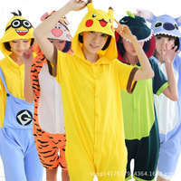 2018 Newest Adult Pajamas All In One Pajamas Animal Cosplay Costume Women Summer Clothing Cute Animal