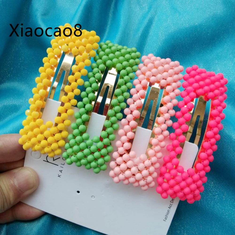 1 Set Pearl Hairpins Fashion Adult Hair Clips for Women Barrettes Trendy Gilrs Hair Accessories Mujer 2019   Headwear   Hairclips