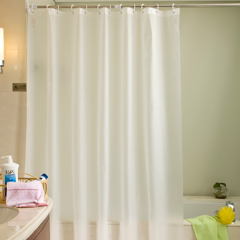 Solid Color Bathroom Shower Curtain Shading Waterproof Thickened Mildew Bathroom Curtains