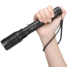 5 Modes XM-L T6 LED Zoomable Flashlight 12000 Lumen 18650 Battery Charger Outdoor Camping Electric Torch JDH99