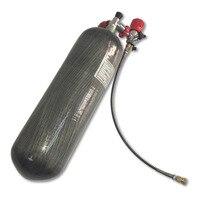 Оборудование для дайвинга M18x1.5 6.8L воздуха бутылку углеродное волокно цилиндр Танк 300bar/4500psi PCP Пейнтбол ВВС страйкбол + два клапана