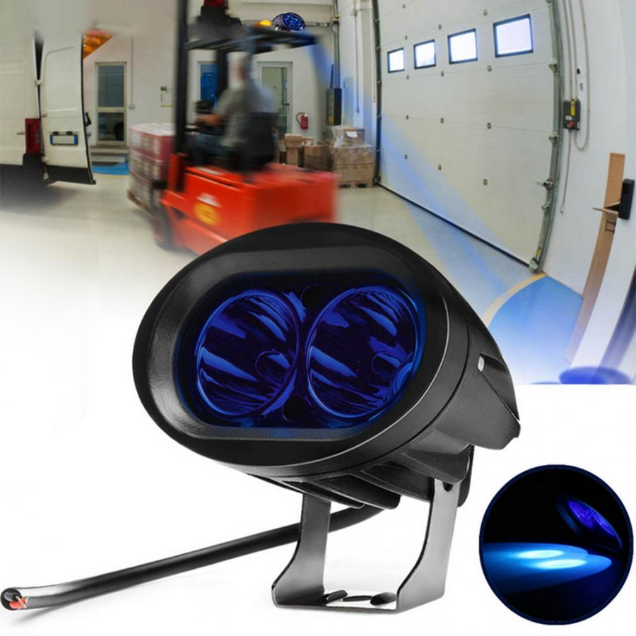 AC 9-60V 20W LED Spot Forklift Truck Blue Warning Lamp Safety Working IP67 Waterproof Safety Light