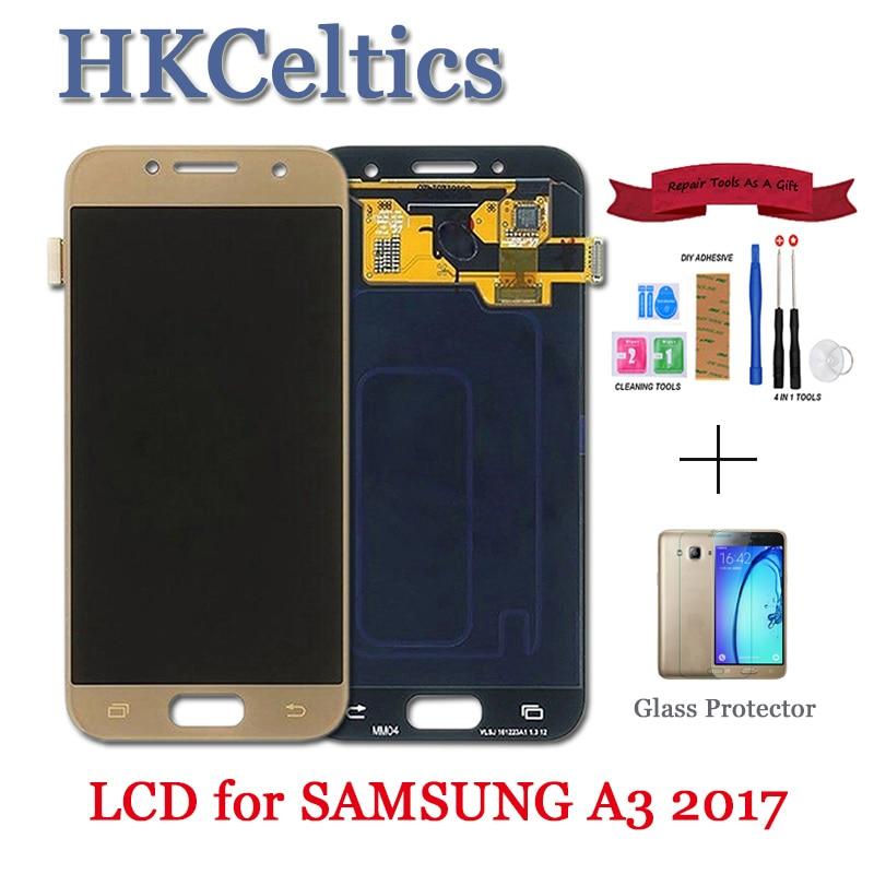 100% Test 4.7 pouces LCD remplacement pour Samsung Galaxy A3 2017 A320 A320F écran LCD avec écran tactile numériseur assemblée ajuster