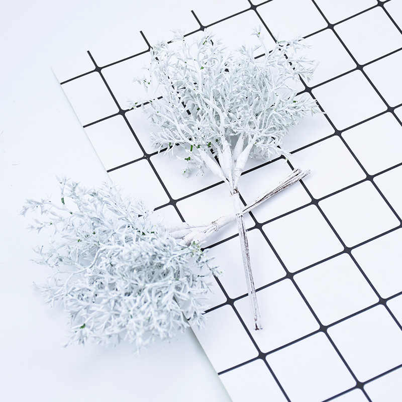 6PCS Artificial plants wedding home decoration bridal accessories clearance fake flowers for scrapbooking diy Christmas wreath