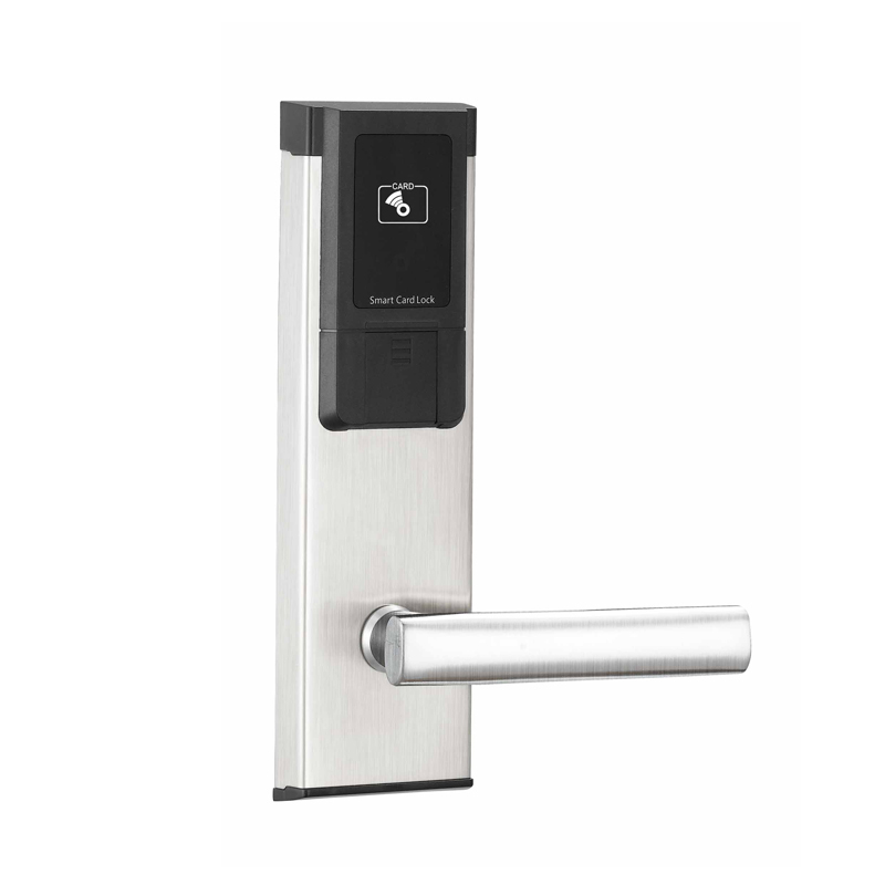 Italian door locks RFID digital key card door lock system with stainless steel panel/handle for hotel high class digital electronic rfid card hotel door handle locks with master card key options et820rf