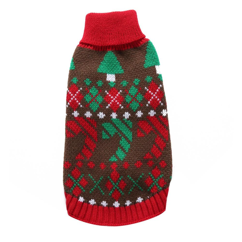 2018 Dog Cat Knit Sweater Kitten Puppy Christmas Style Sweatshirt ...