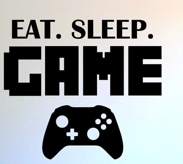 boys play room vinyl wall decal eat sleep game version lettering