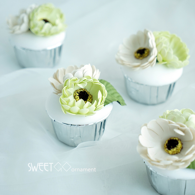 SWEETGO Simulated Flower Cupcake Fake Dessert Moulds Clay Cake Craft Home  Decorator For Showcase Cake Store