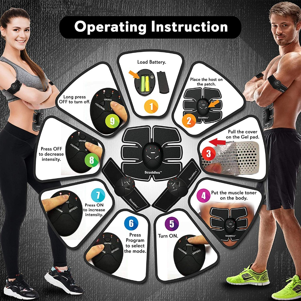 Slimming Fat Burning Exerciser Electric Muscle Training Gym Smart Fitness Muscle Stimulator Abdominal Tool Muscle Stimulator 1