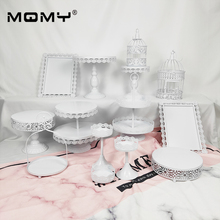 Wholesale Iron Metal Cake Stand Set 14pieces Wedding Cupcake Tray Plate Birthday Party Decoration Tool Bakeware Dinner