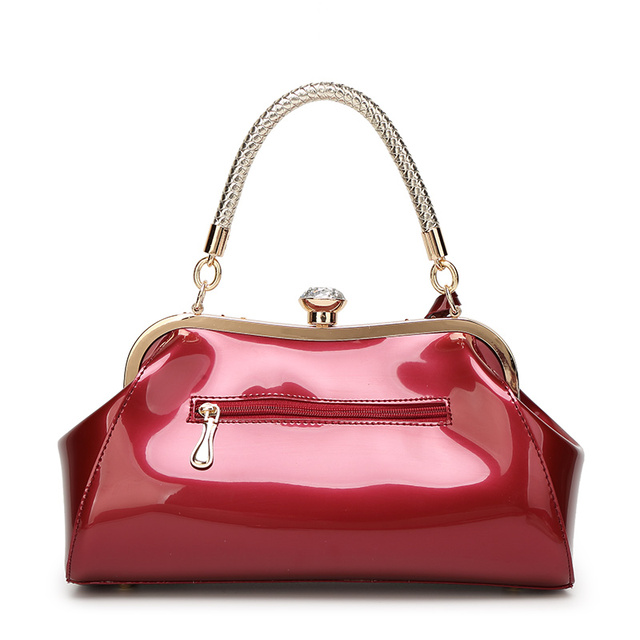 ZENBEFE Evening Bags Patent Leather Women Handbags Fashion Women's Shoulder Bags Ladies Clutch Wedding Party Bags
