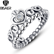 Authentic 925 Sterling Silver My Princess Queen Crown Ring Design Wedding Rings For Women Jewelry WEU7204