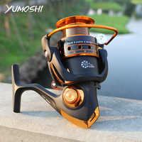 YUMOSHI AX/BX Fishing Reel 12BB+1 500-9000 Metal Coil Spinning Reel Carp Bait Boat Rock Sea Spinning Tackle Casting Line Reels