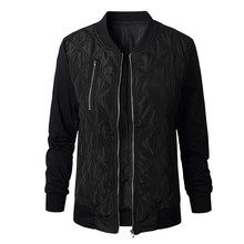 Autumn Winter Leisure Fashion Solid Women  Jacket O-neck Zipper Stitching Quilted  Bomber jacket