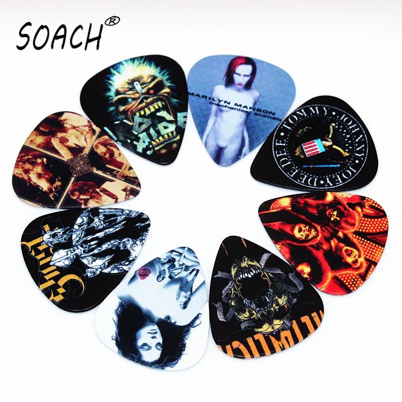 SOACH 10pcs Newest  Custom-made Band Guitar Picks Thickness 0.71mm
