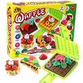 Free shipping Multi-colored mud play doh / polymer clay plasticine creative waffle plastilina mold tool kits 5 colors