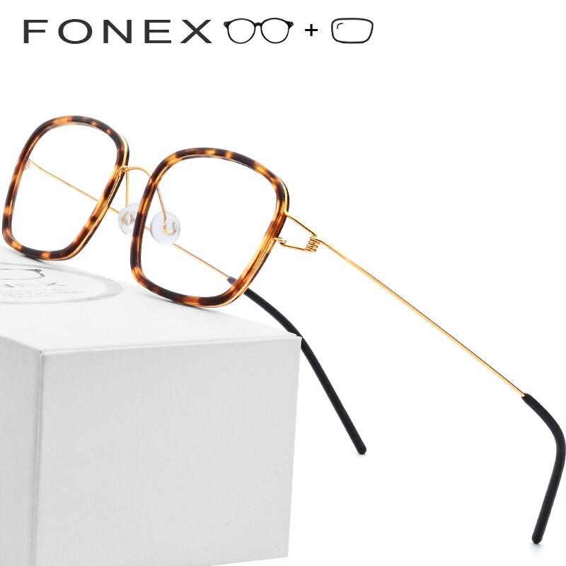 81bba5a514336 Liga de titânio Óculos de Armação Homens Miopia Acetato Óptica da  Prescrição Dinamarca Ultraleves Óculos 2019 Mulheres Sem Parafusos Eyewear