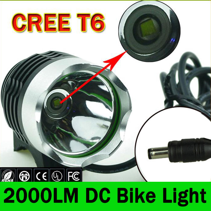 все цены на 2000 Lumen XM-L T6 LED Bicycle Light Head Front Mount Bike Light HeadLight Headlamp Waterpoof Bike Lamp 3 Mode & DC онлайн