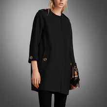 2016 Pockets Long Solid Kaban Coats Winter Coat Autumn And New Fashion Hair Mao Jacket, Europe The Top Seven Split Sleeve Wool