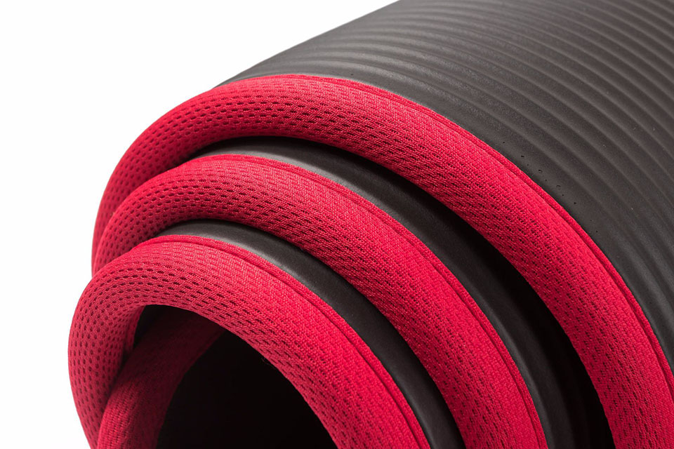 Image 5 - 10MM Extra Thick 183cmX61cm High Quality NRB Non slip Yoga Mats For Fitness Tasteless Pilates Gym Exercise Pads with BandagesYoga Mats   -