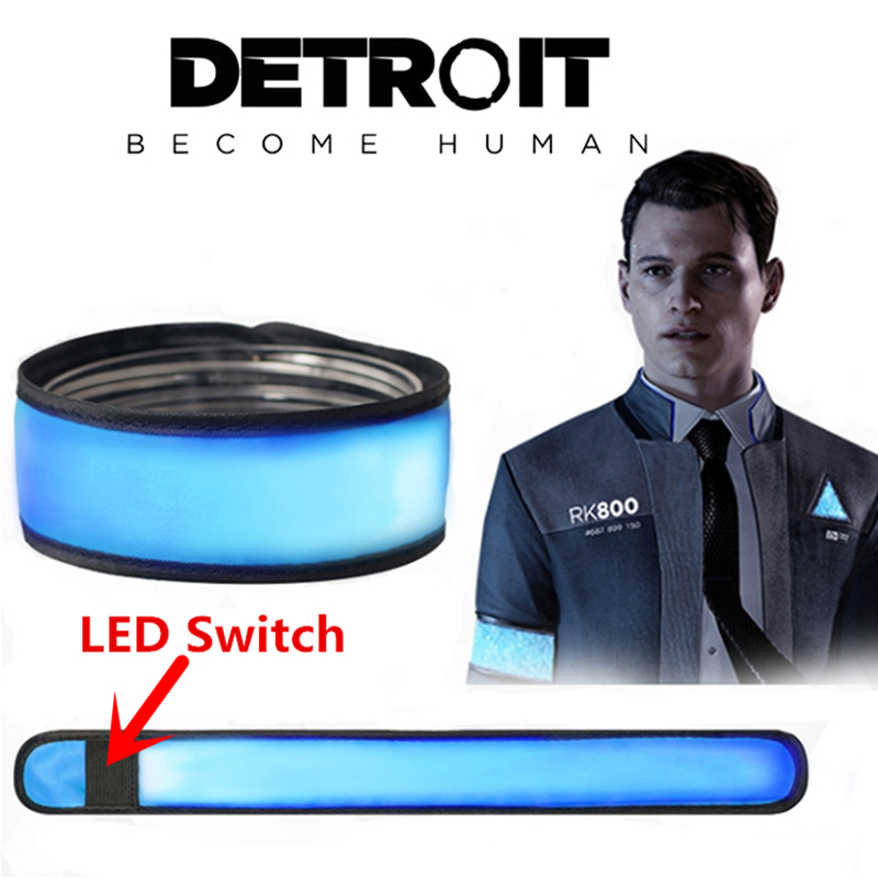 Game Detroit : Become Human Cosplay Connor LED Light Luminous Armband Armlet Props Accessories