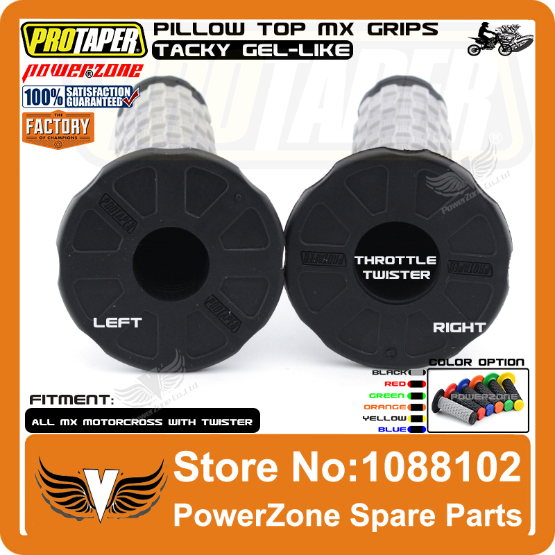 024858 CRF YFZ RMZ KXF SXF XC PRO TAPER Pillow Top Motorcycle Grips BLACK