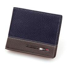 цена на Short Men Wallet Male Purse Card Holder Small Walet Cuzdan Vallet For Money Bag Kashelek Portomonee Billetera Partmone Portmann