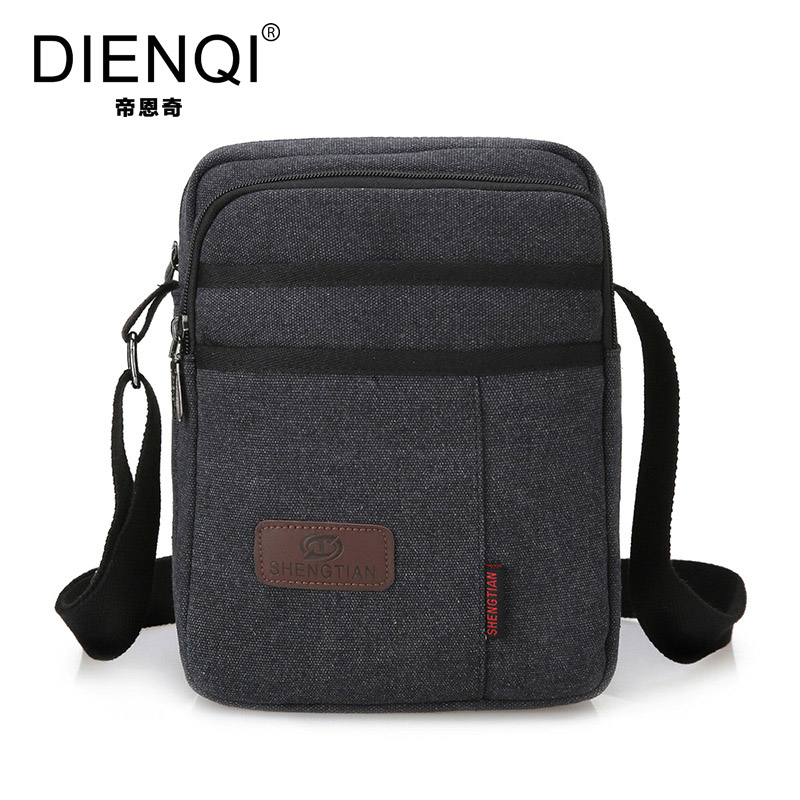 DIENQI 2017 High Quality New Canvas Bag Men Casual Travel Bolsa Masculina Men's Crossbody  Bags Men Messenger Bags 5 Colors 8228 high quality casual men bag