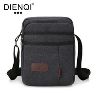 DIENQI Brand High Quality Multifunction Men Canvas Bag Casual Travel Bolsa Masculina Men S Crossbody Bag