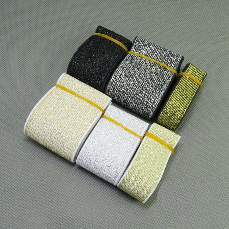quality elastic band / gold and silver wide elastic band / wide belt decoration with 2-5cm accessories