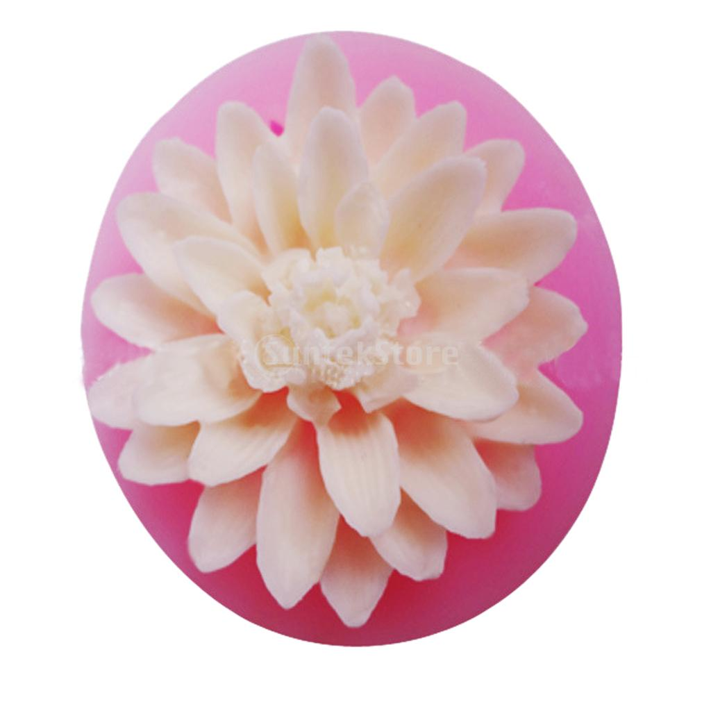 Lotus Flower 3d Fondant Cake Mold Candy Sugar Craft Cutter