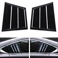 Блестящие черные внешние части автомобиля для Mazda 6 Atenza 2014-2018 жалюзи заднего окна автомобильные наклейки автомобильные крышки аксессуары ABS