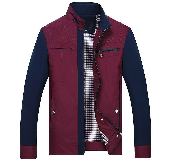 Spring And Autumn 2018 New Big Size Mens Jacket Fashion Size Jacket Business Collar Youth And Fat Loose Jacket
