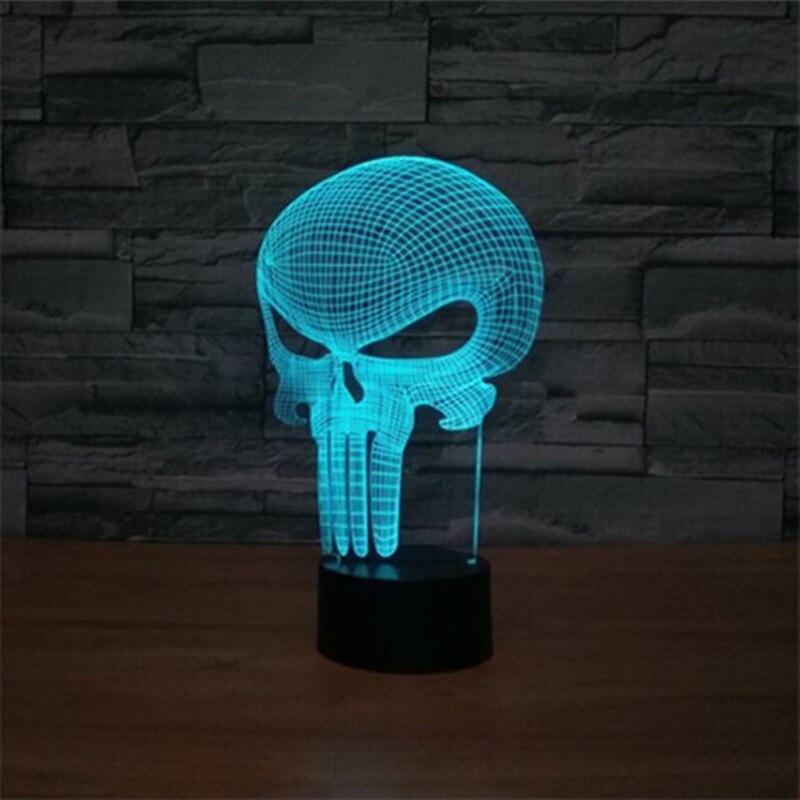 купить 3d Led цвет изменение ночник Usb череп лампа настольная лампа