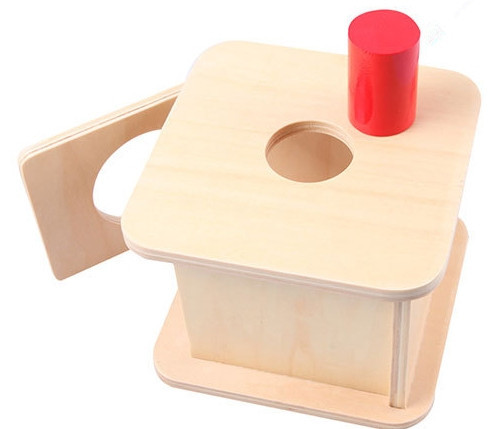 Small Red Cylinder Matching Box Learning Toy