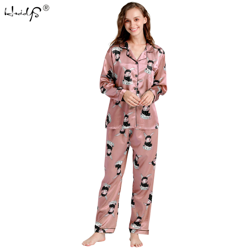 Plus Size Autumn 2018 Fashion Women   Pajamas   Turn-down Collar Sleepwear 2 Two Piece   Set   Shirt+pants Cartoon Casual   Pajama     Sets
